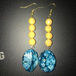 Drop beads earring